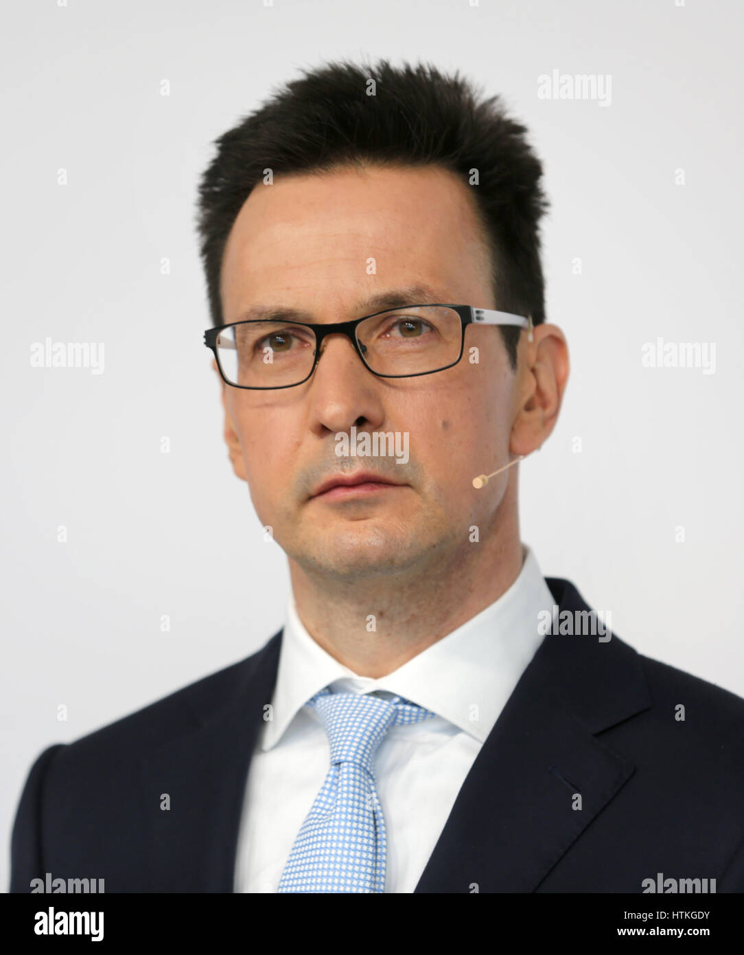 Essen, Germany. 13th Mar, 2017. Chairman of finance (CFO) for the eco-energy group Innogy, Berhnhard Gunther, at - Stock Image
