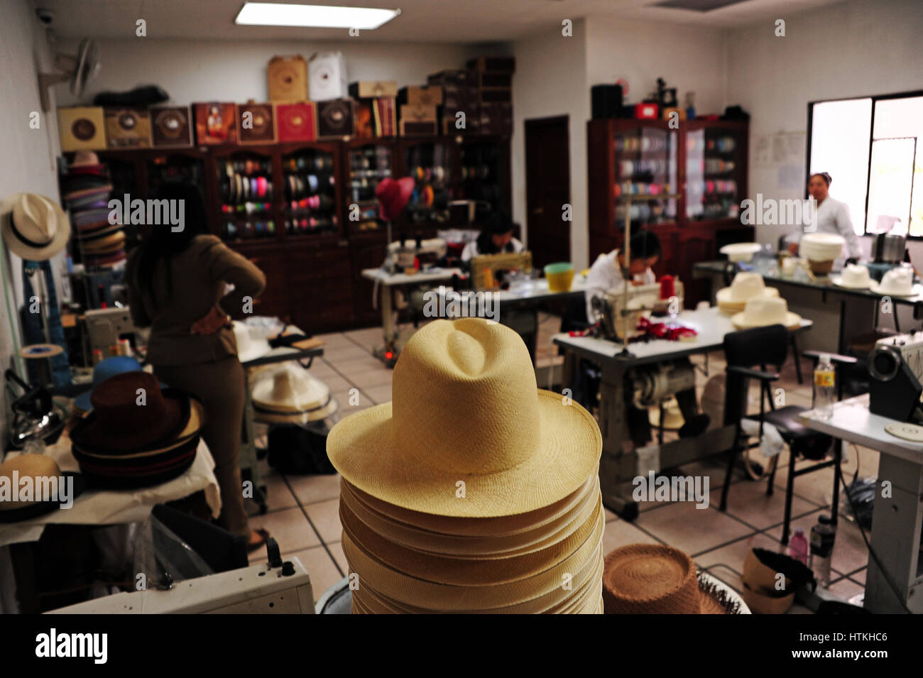 Panama hat production at the  Homero Ortega  hat factory in the southern  Ecuadorian town ff4dc5af4c0