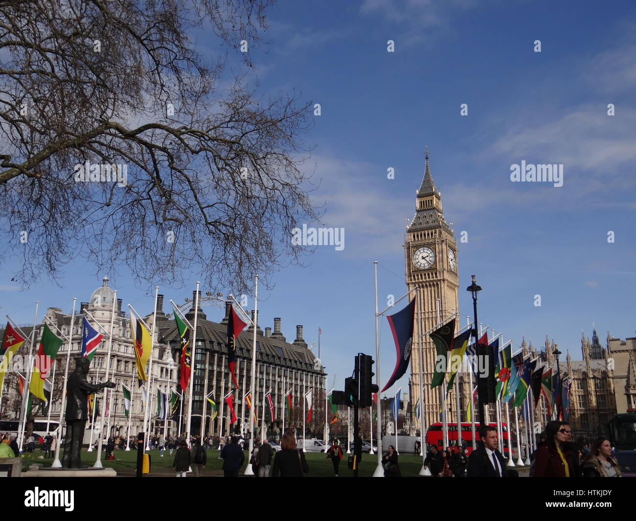 Westminister Abbey, London, UK. 13th Mar, 2017. The Commonwealth Service is held at Westminster Abbey at 3.15pm Stock Photo