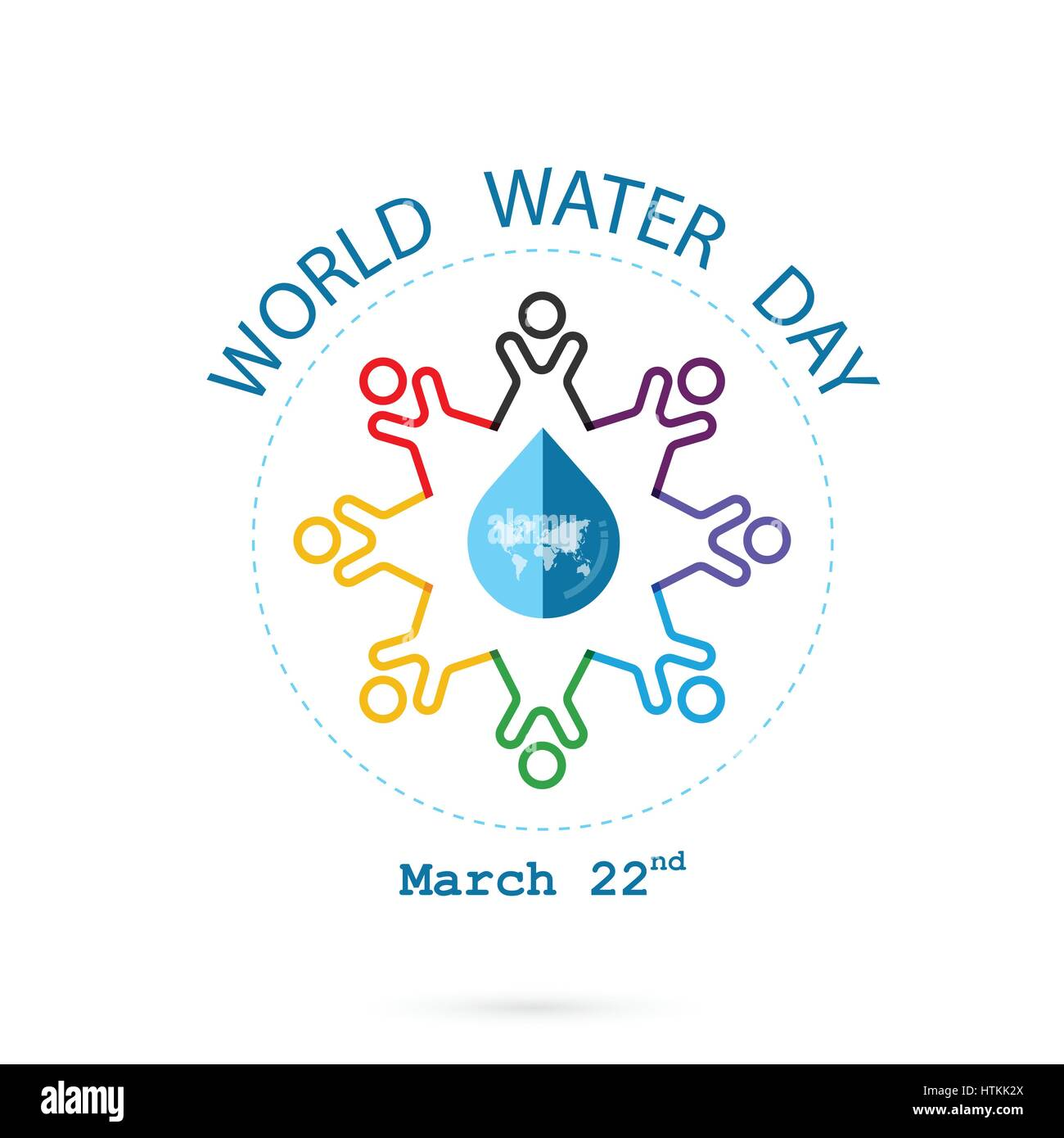 Water drop and world map with people icon vector logo design stock water drop and world map with people icon vector logo design template water day idea campaign for greeting card and posterctor illustration gumiabroncs Images