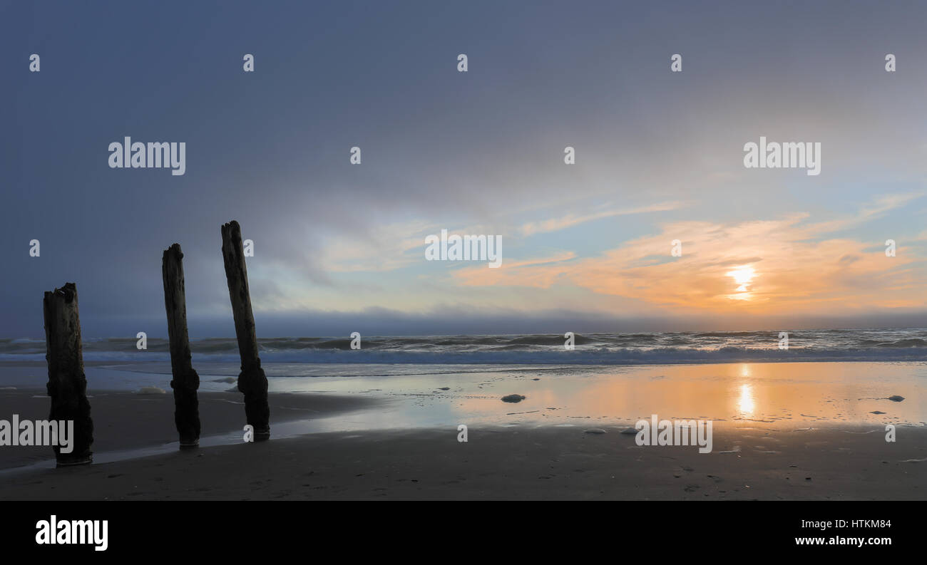 Ocean Beach Sunset - Stock Image