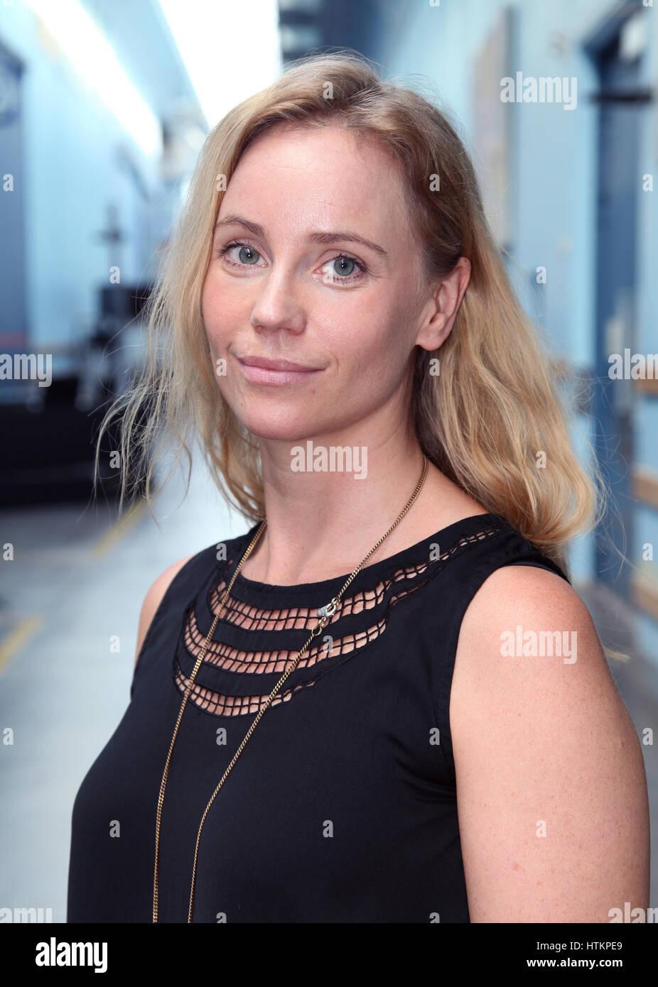 SOFIA HELIN Swedish actress in Television Swedish/Danish co productionTV series The Bridge as Police inspector Saga - Stock Image