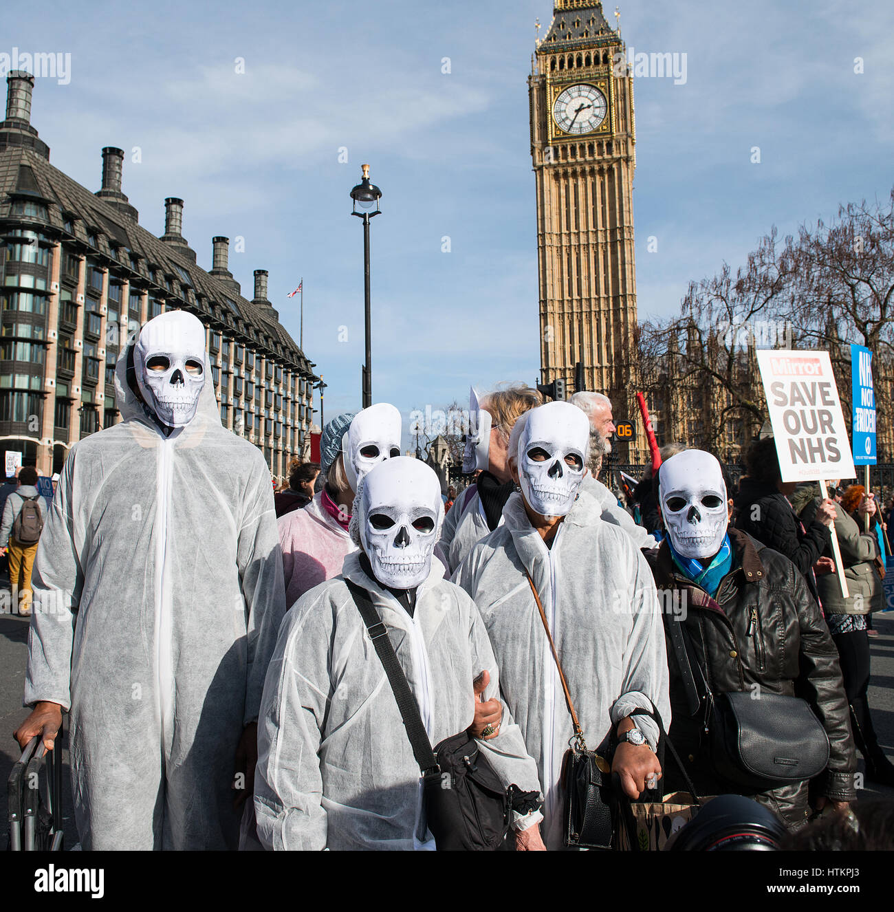 # OUR NHS rally - Thousands turn out for the national demonstration in central London, to defend the NHS against - Stock Image
