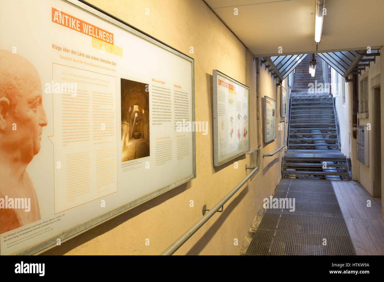 Ancient Spas in Zurich - Stock Image