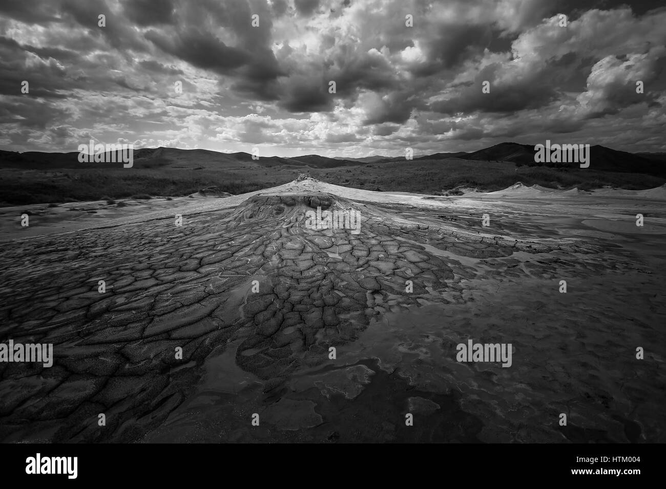 Picture of a mud volcano - Stock Image