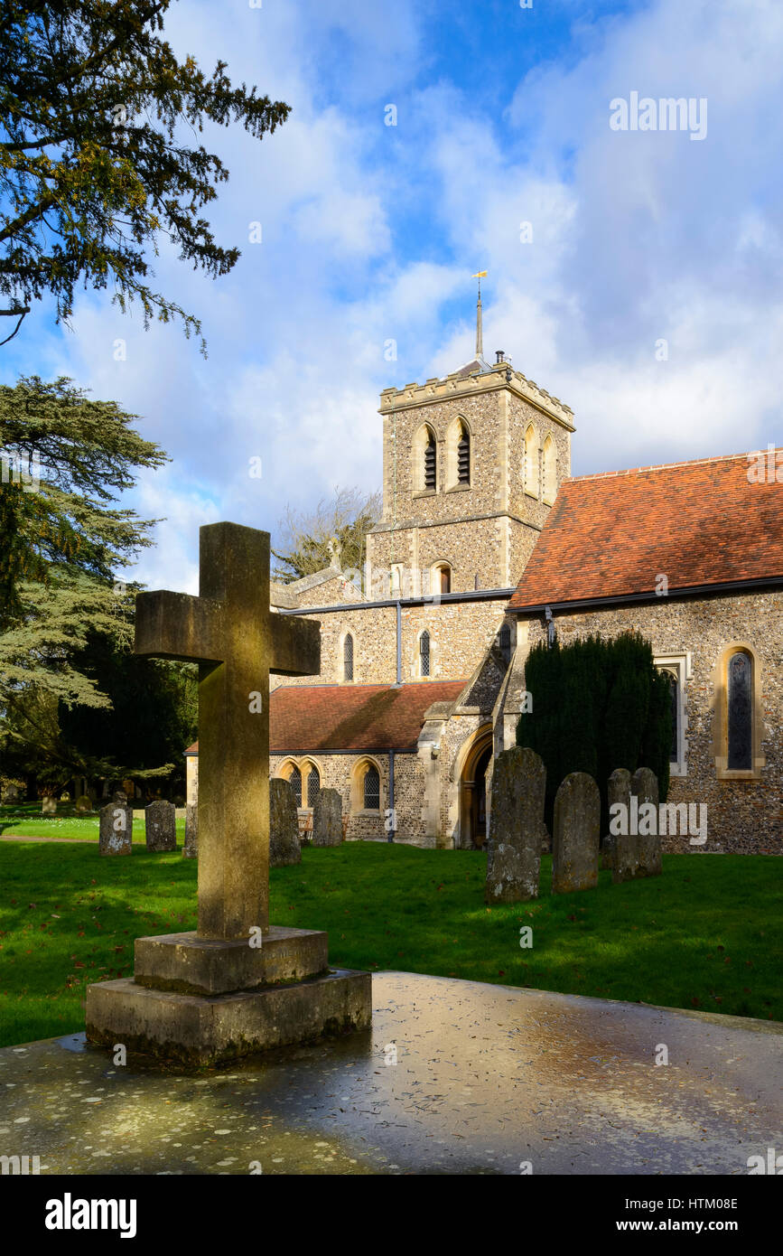 The exterior of St Michaels Church, St Albans, United Kingdom - Stock Image