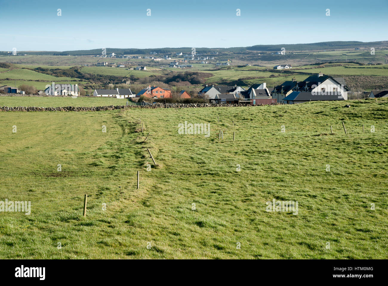 Typical countryside of west coast of Ireland. - Stock Image