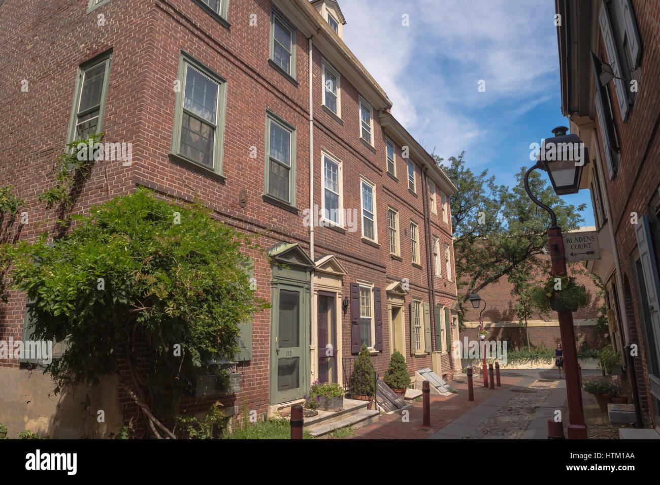 Elfreths Alley Red Brick House Stock Photos & Elfreths ...