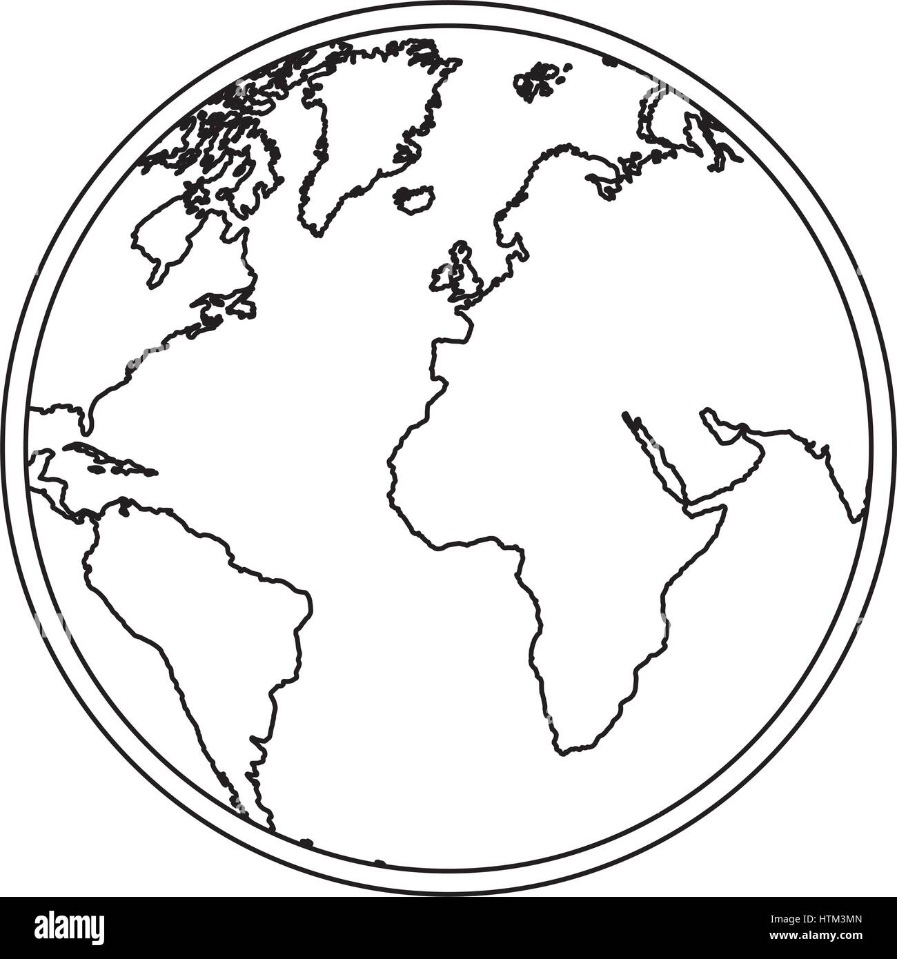 Silhouette earth world map with continents icon stock vector art silhouette earth world map with continents icon gumiabroncs