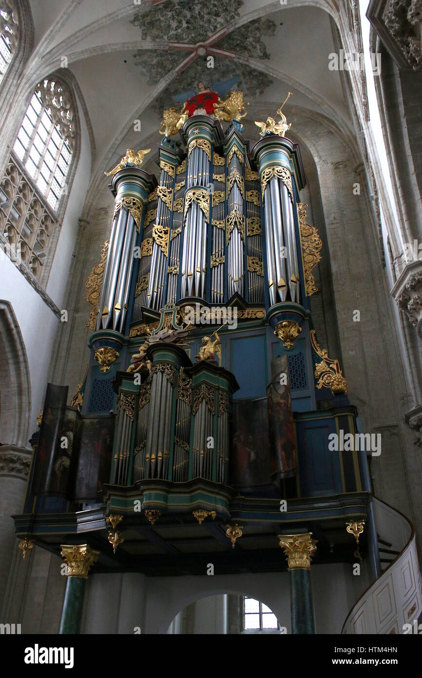 Monumental Flentrop organ of the Church of our Lady Stock