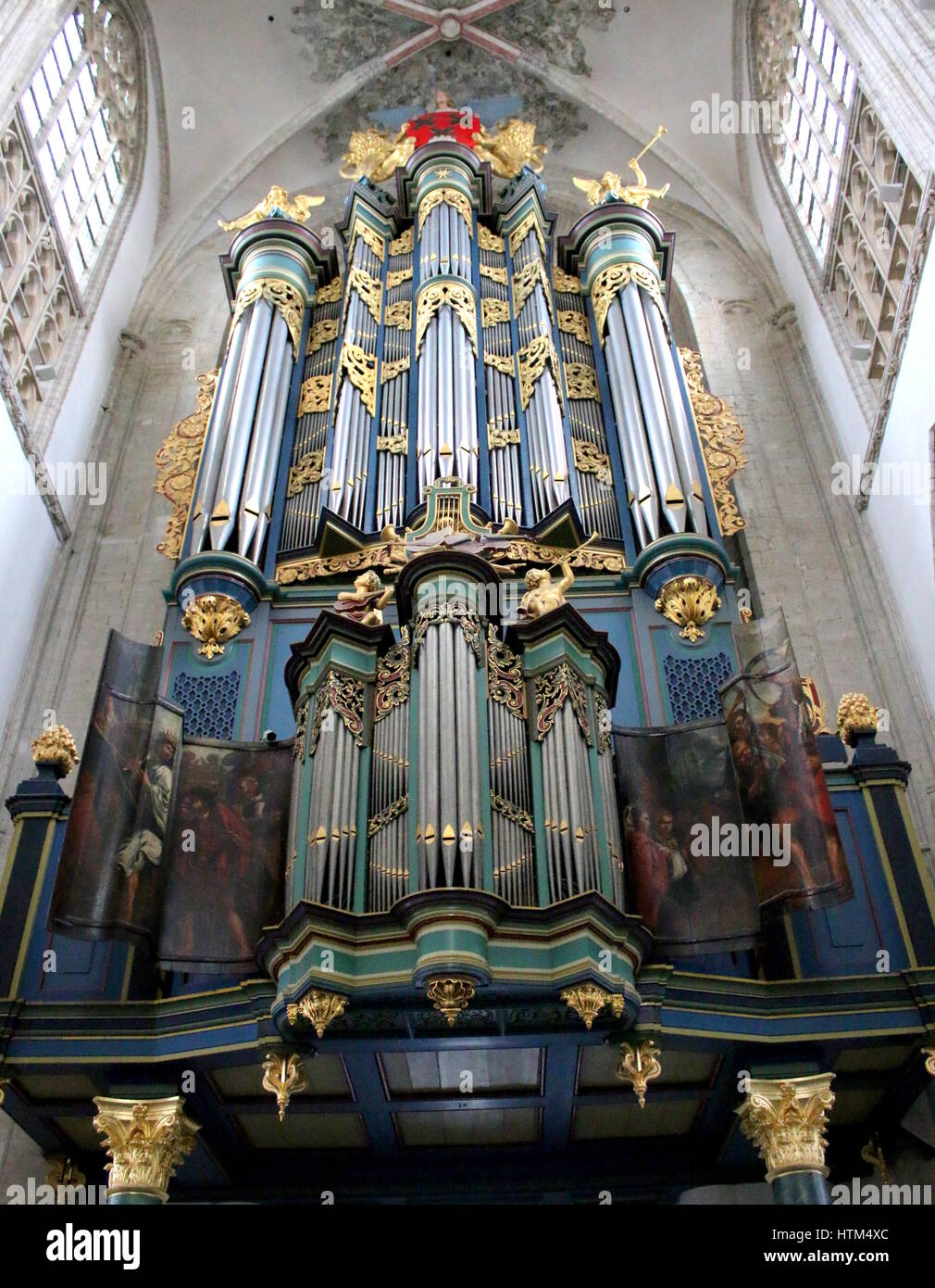 Monumental Flentrop organ in the Church of our Lady Stock