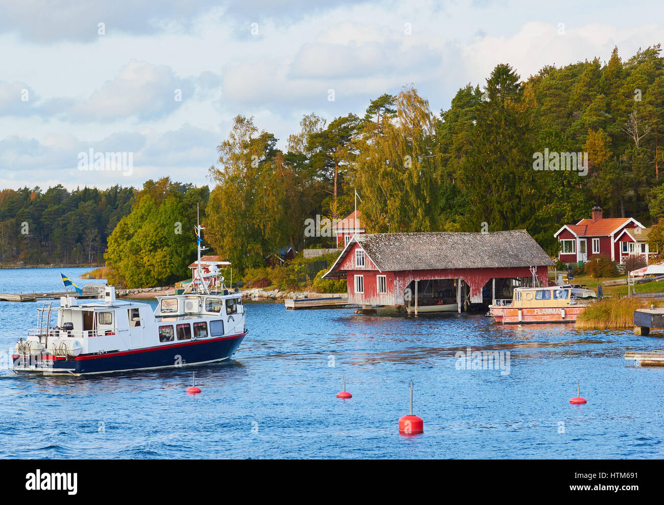 Island community in the Stockholm archipelago, Sweden, Scandinavia - Stock Image