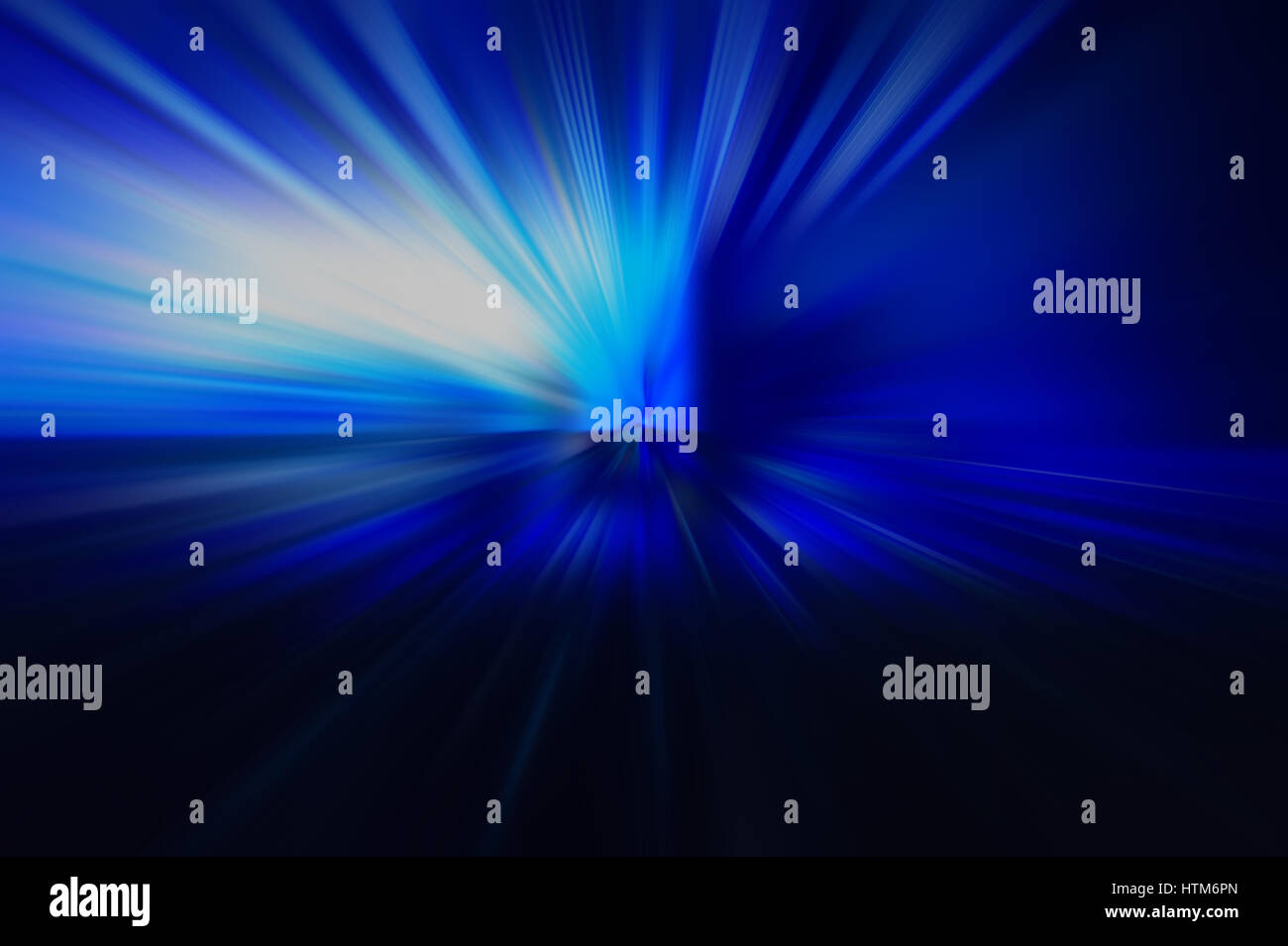 Radial colored rays, abstract blurred background - Stock Image