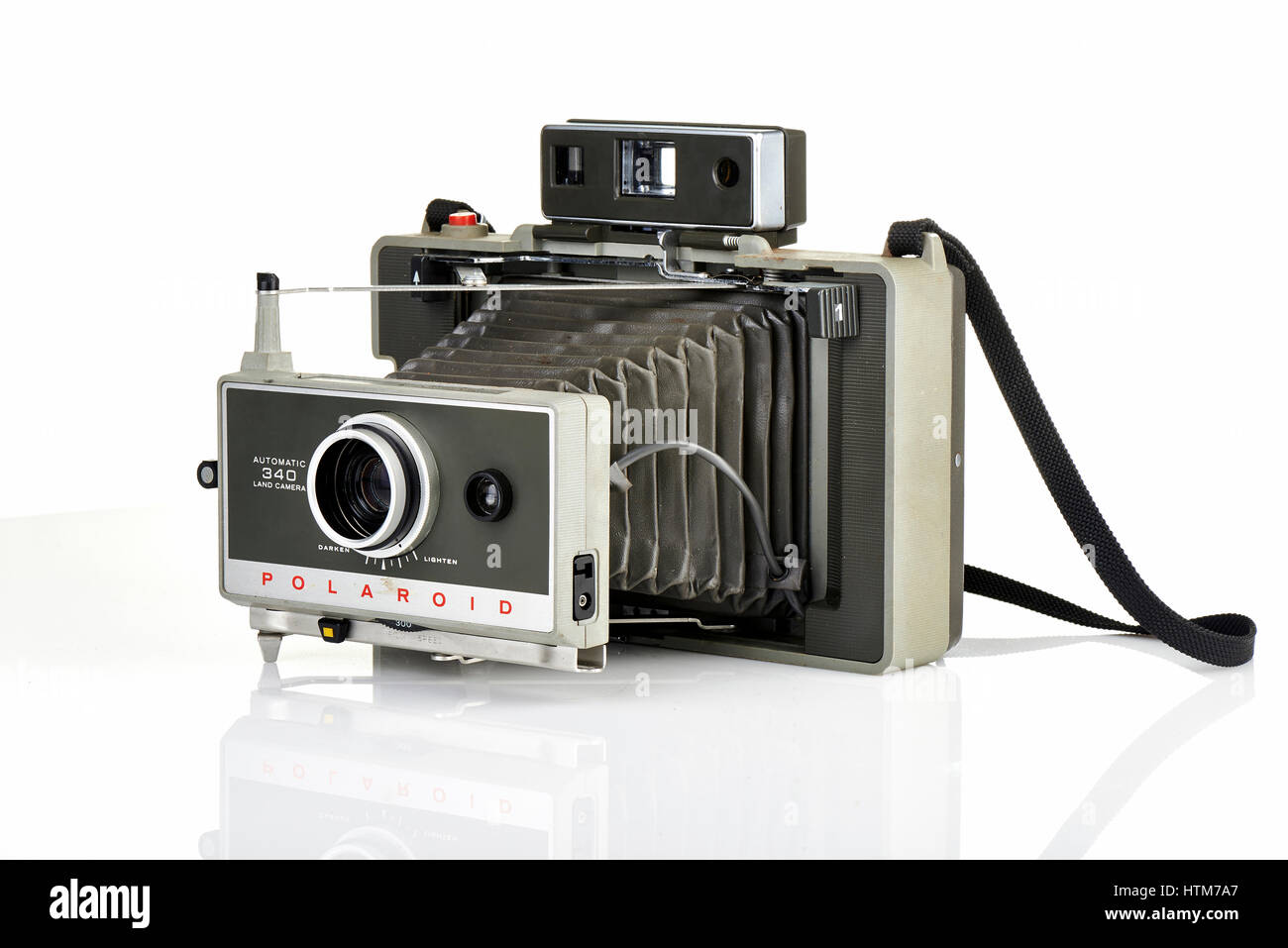 BRUSSELS,BELGIUM - FEBRUARY 03, 2014: Illustrative editorial of a Vintage Polaroid instant camera - Stock Image