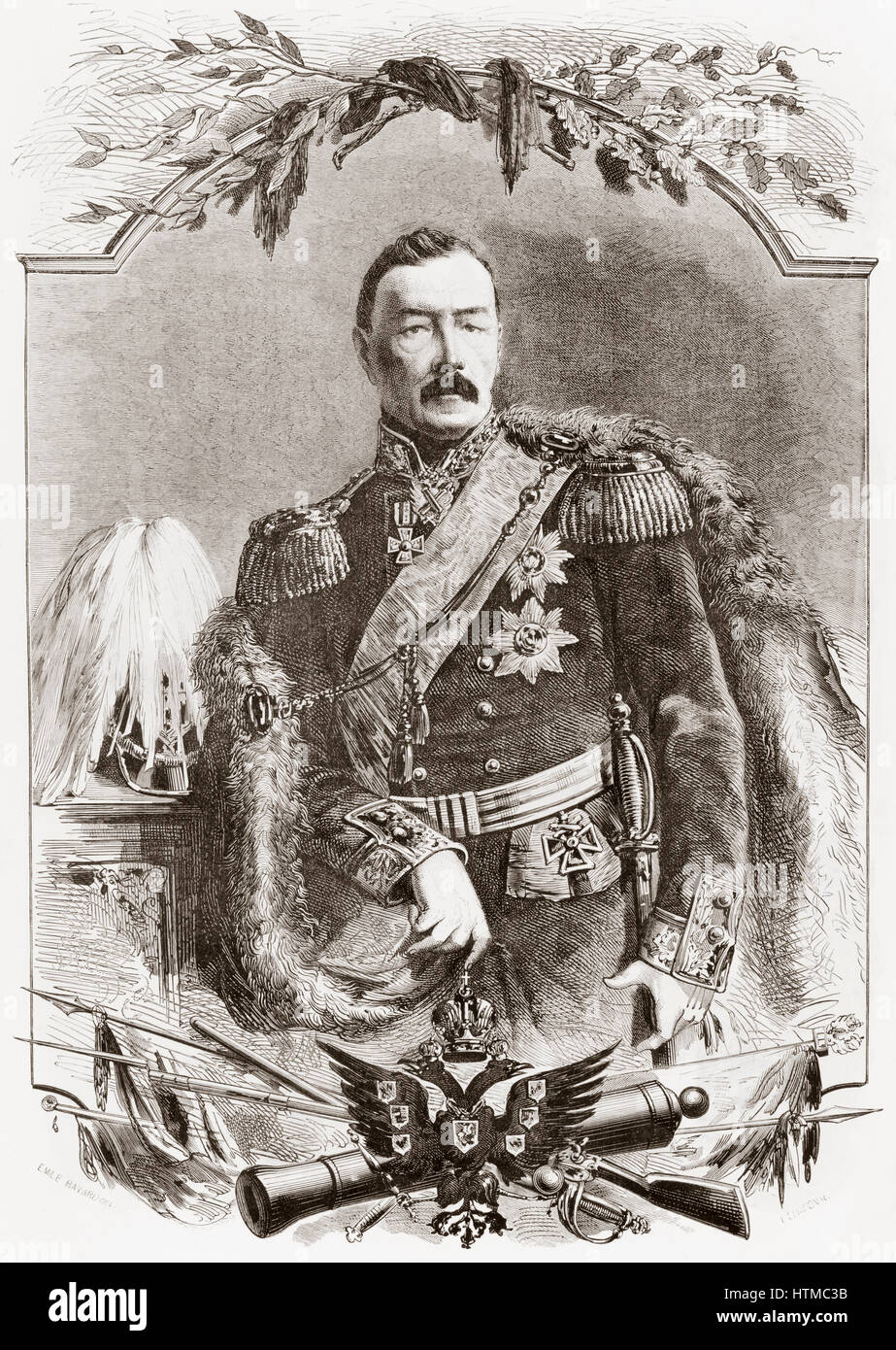 Prince Pyotr Dmitrievich Gorchakov, 1790 –  1868.  Imperial Russian Army general from the Gorchakov family of Russian - Stock Image