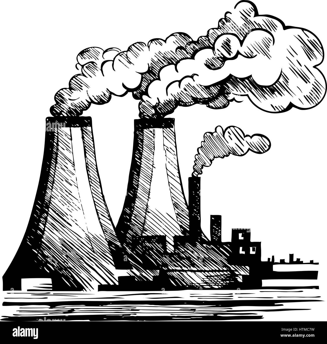 Draw About Pollution Black And White