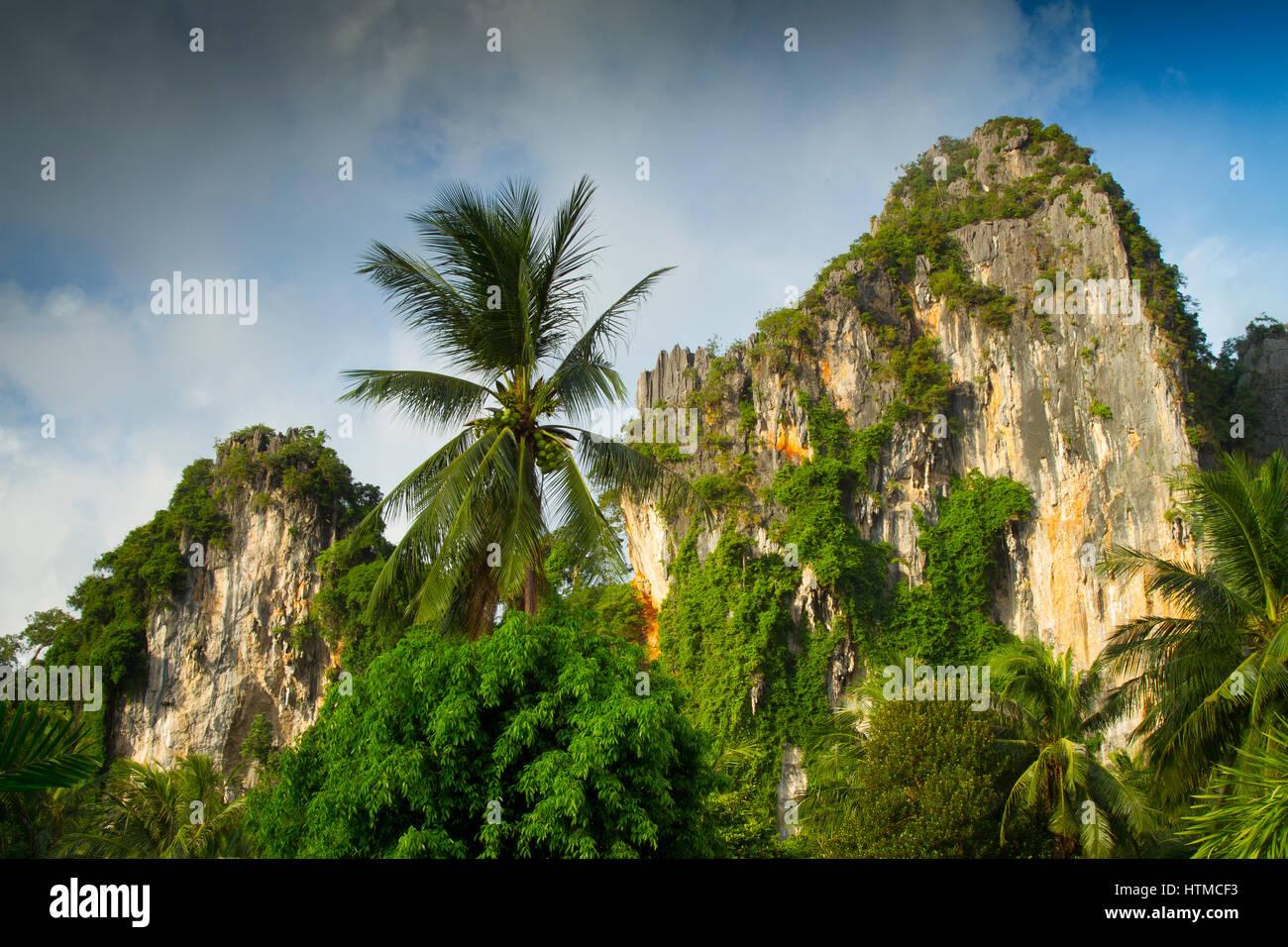 Railay. Krabi province, Thailand. - Stock Image