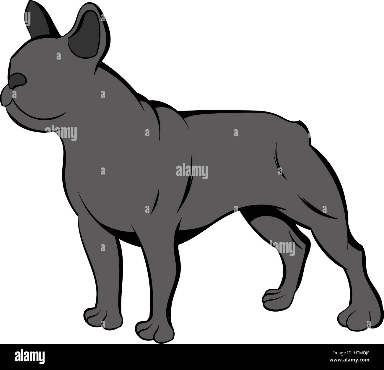 French Bulldog Icon Cartoon Stock Vector Art Illustration Vector
