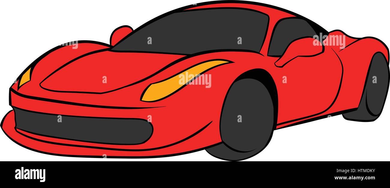 Red Cartoon Car Stock Photos Red Cartoon Car Stock Images Alamy