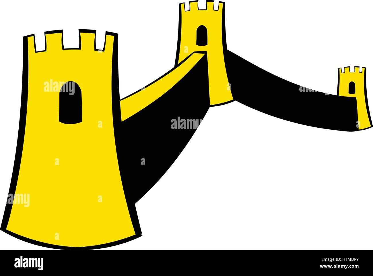 Great Wall of China icon cartoon Stock Vector Art & Illustration ...