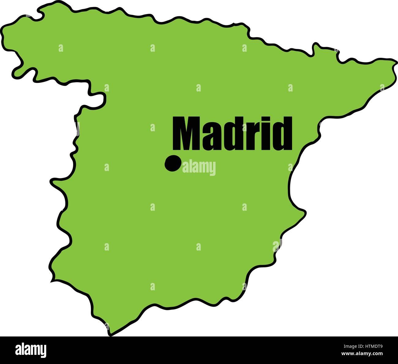 Madrid Spain Europe Map Stock Photos & Madrid Spain Europe Map Stock ...