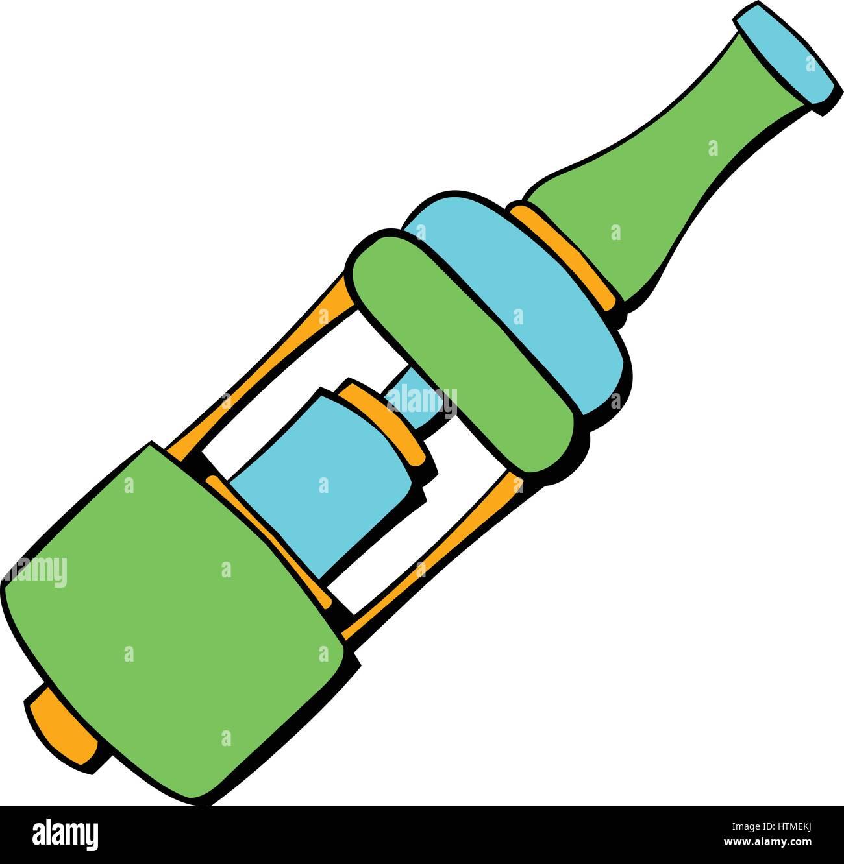 Electronic cigarette mouthpiece icon cartoon - Stock Image