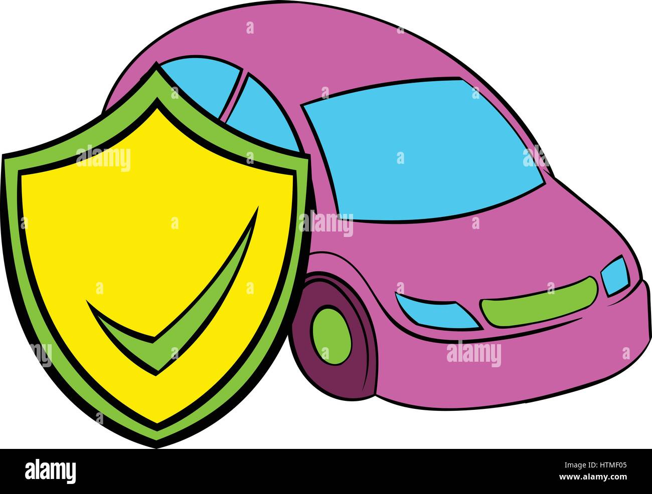Car insurance icon cartoon Stock Vector