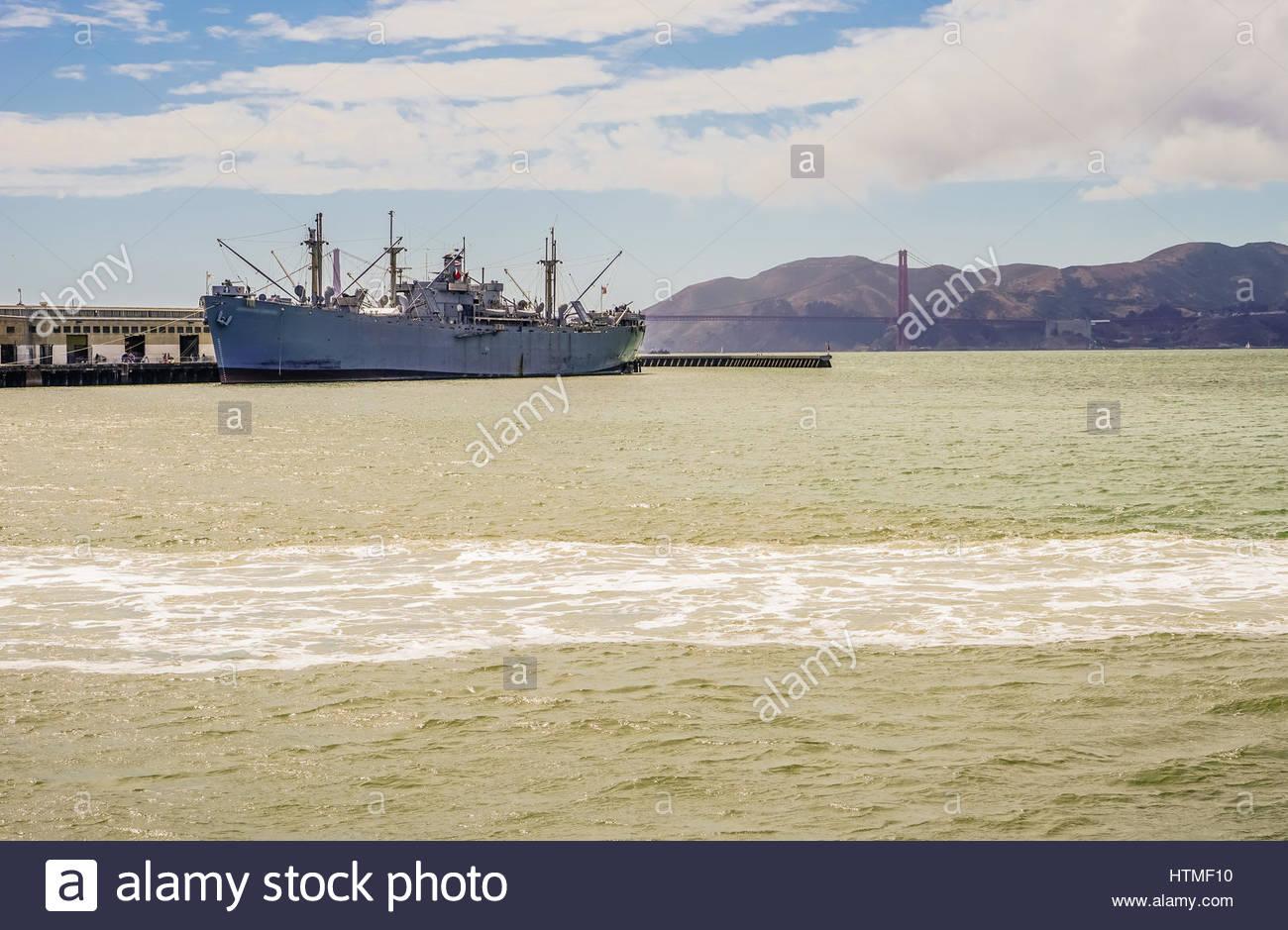 San Francisco Bay Pier 39 Wharf Forbes Island - Stock Image