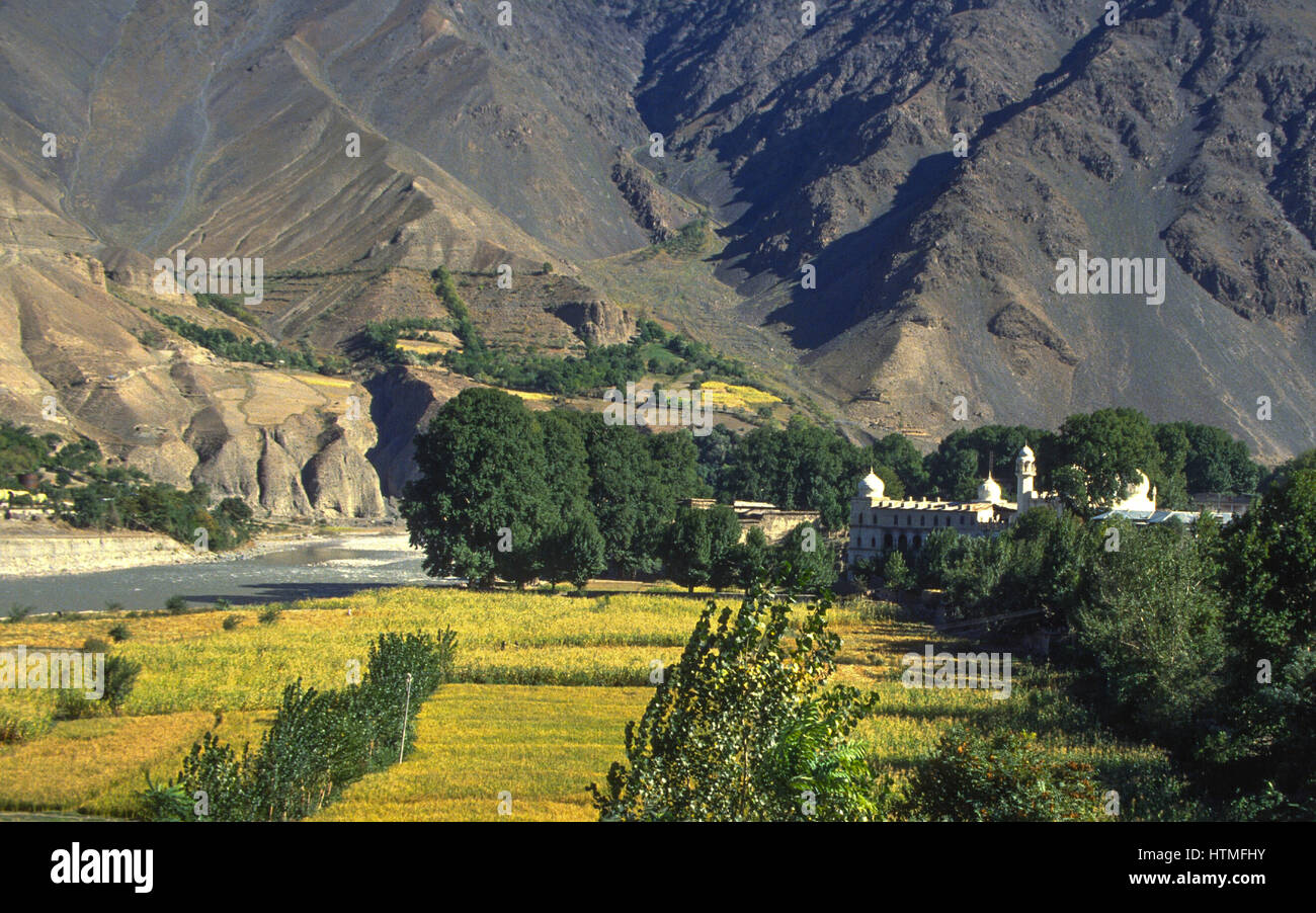 view at chitral and mountains in pakistan - Stock Image