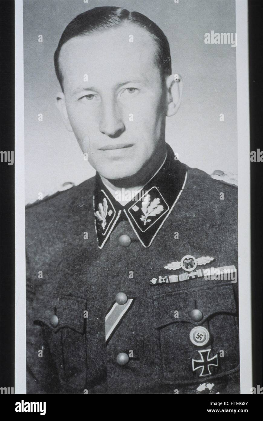 Reinhard Heydrich (1904–1942) SS-Obergruppenführer, chief of the Reich Security Main Office (including the - Stock Image