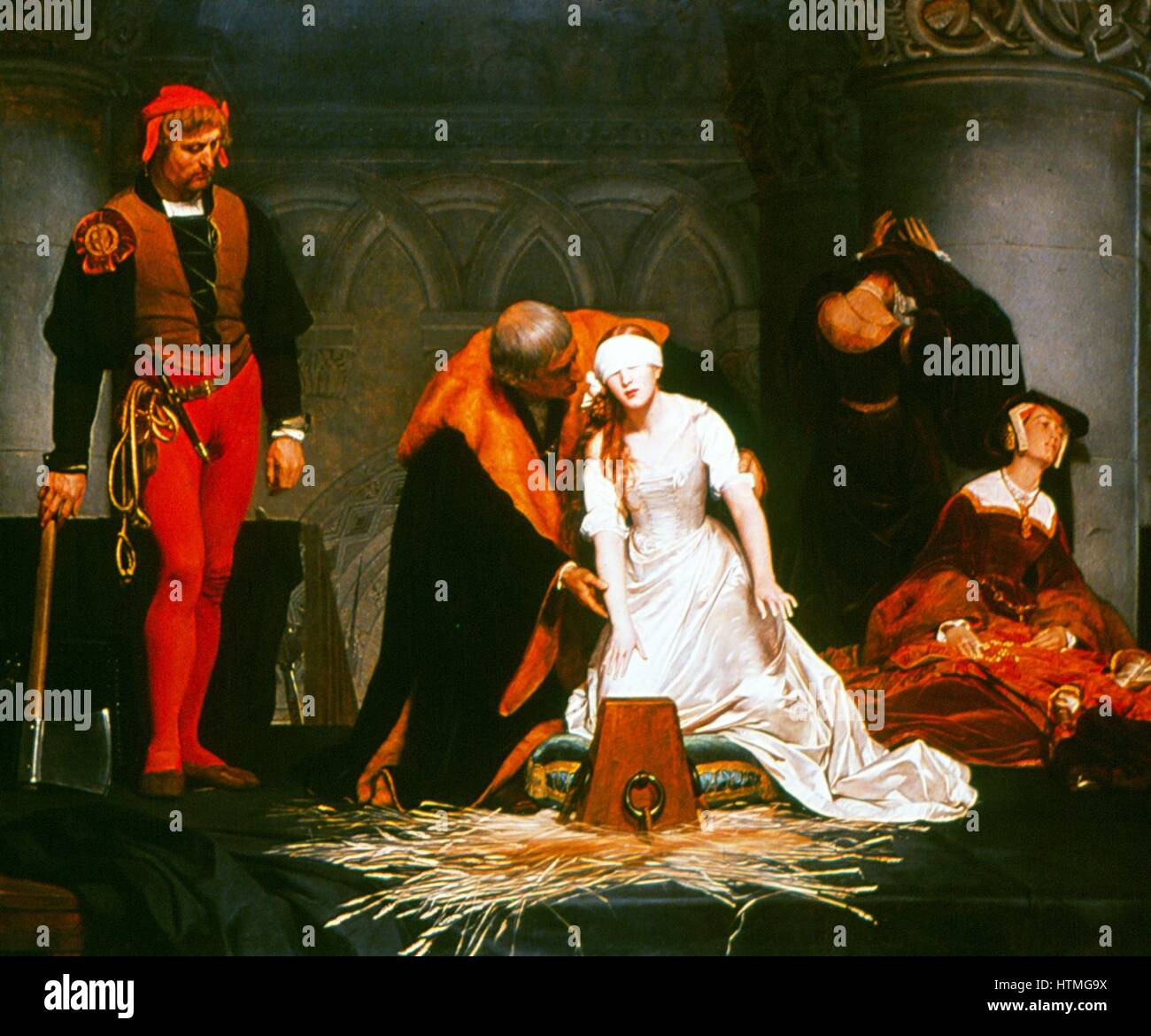 The Execution of Lady Jane Grey' (1537-1554): painting by Paul