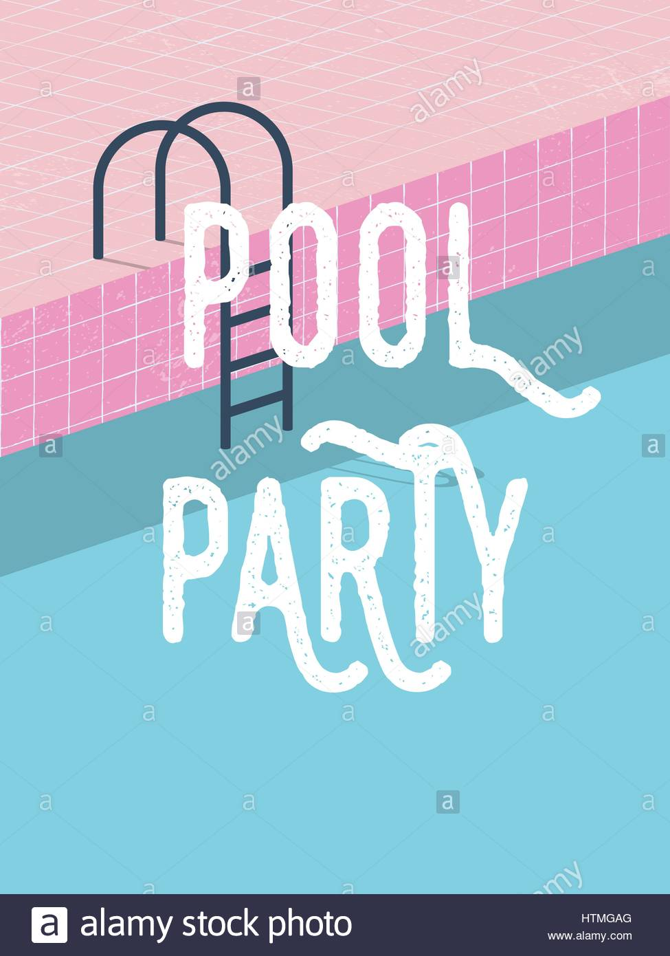 Pool party in summer invitation poster template concept with retro pool party in summer invitation poster template concept with retro style vector illustration and creative typography eps10 vector illustration stopboris Images