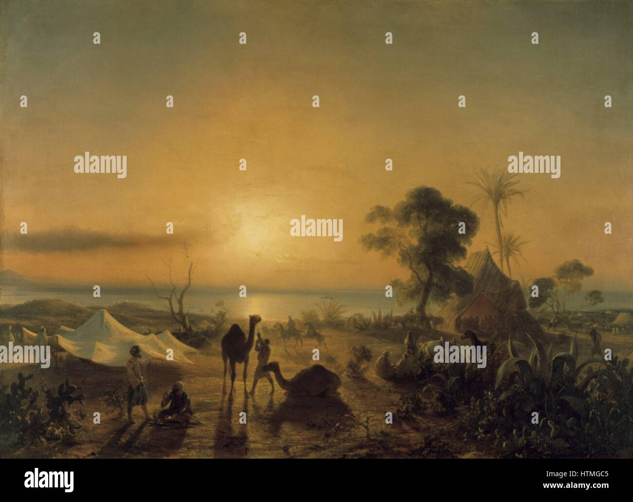 14 June 1830 the Camp at Staoueli. The day of the landing of the French army. The Aga Ibrahim's Tent'. Jean - Stock Image