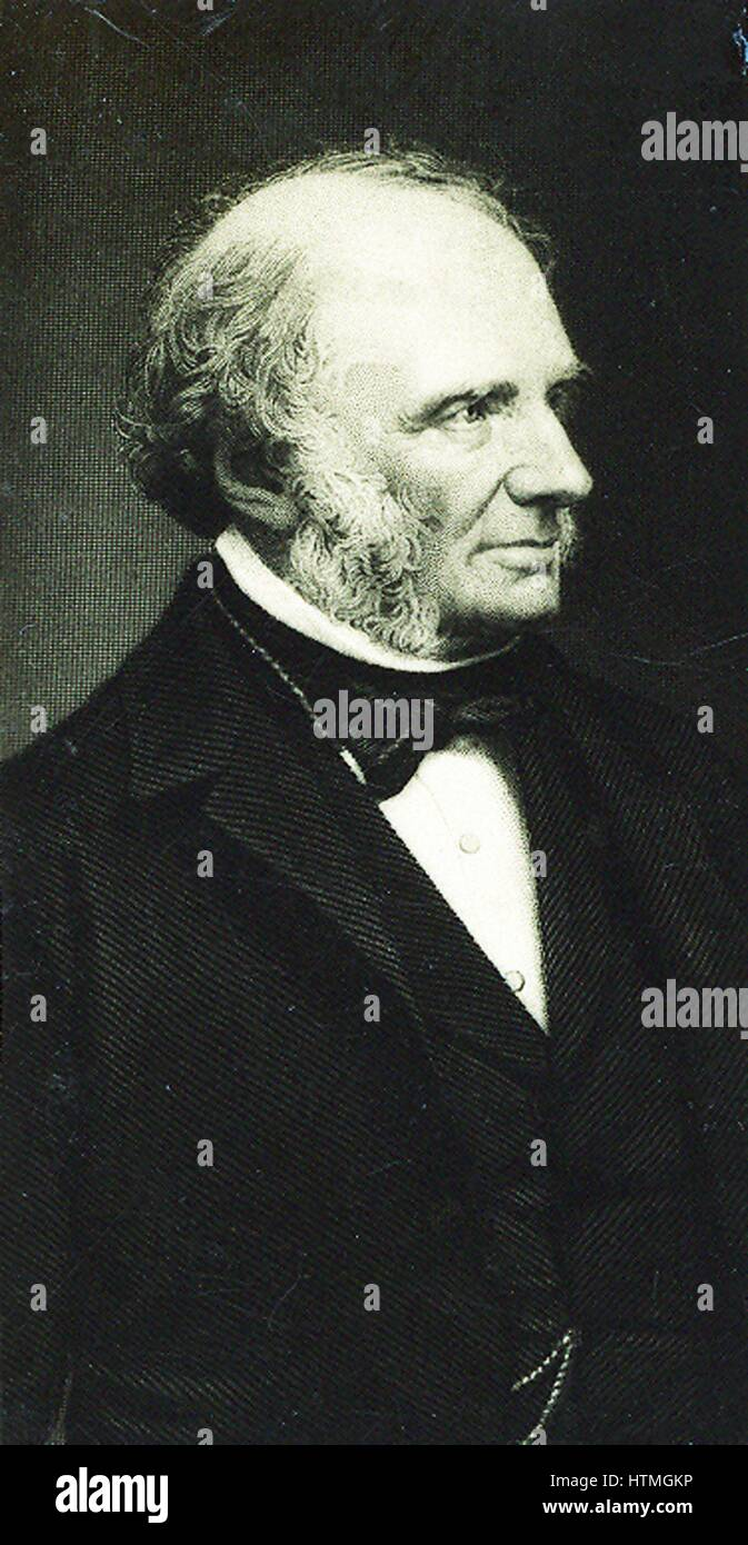 John Russell, lst Earl Russell (1792-1878) English Whig/Liberal politician. Prime Minister 1842-1852. Grandfather - Stock Image