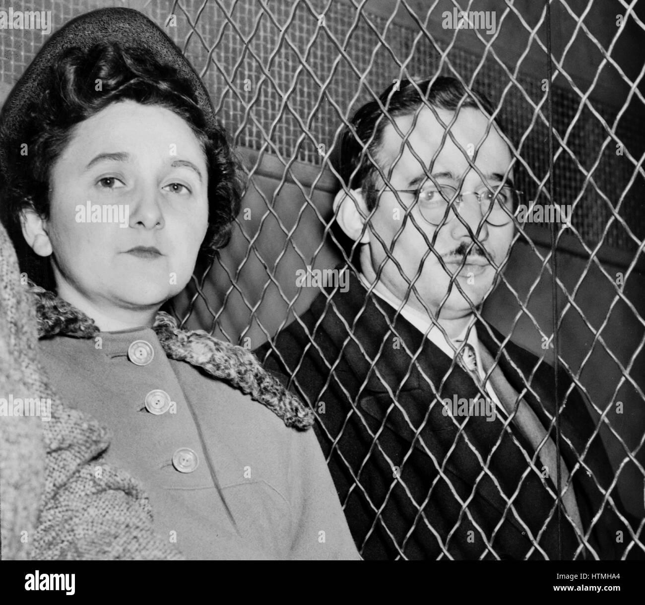 Julius Rosenberg (May 12, 1918 – June 19, 1953) and Ethel Rosenberg (September 28, 1915 – June 19, 1953) American - Stock Image
