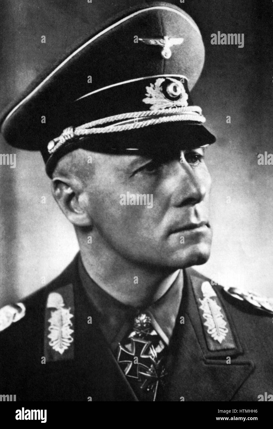General Johanness Eugen Rommel (1891-1944) popularly known as The Desert Fox was a German Field Marshal of World - Stock Image
