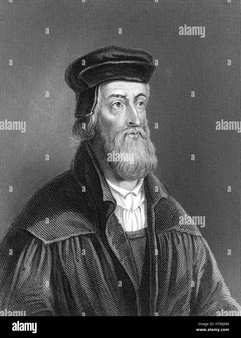 John Wycliffe (c1329-1384) English religious reformer. Leader of the Lollards (Mumblers). Questioned doctrine of - Stock Image