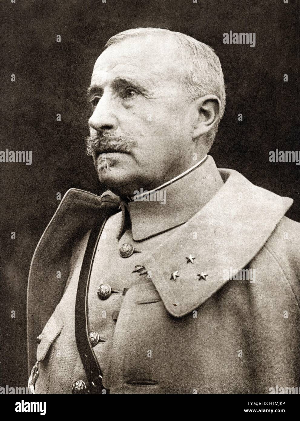 Robert Nivelle (1857-1924) French general. Commander-in-Chief December 1916 to May 1917. Superceded by Petain - Stock Image