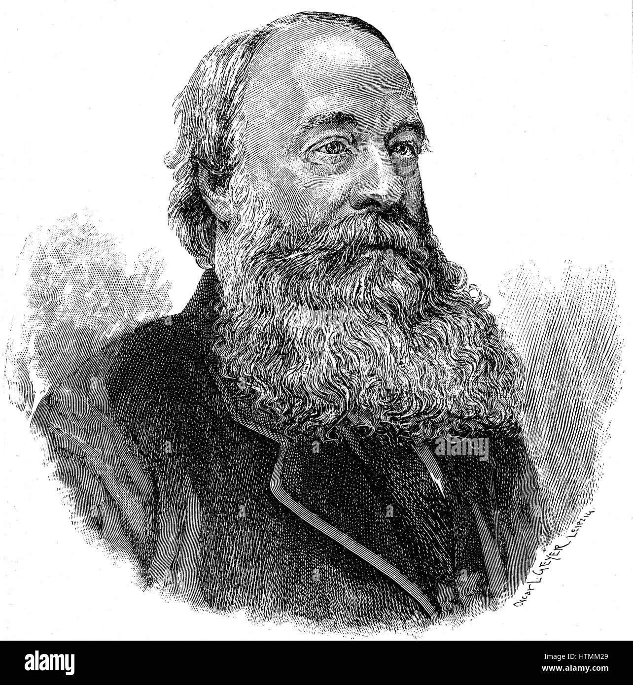 James Prescott Joule (1818-1889) English physicist: Studied chemistry under John Dalton: Worked with William Thomson Stock Photo