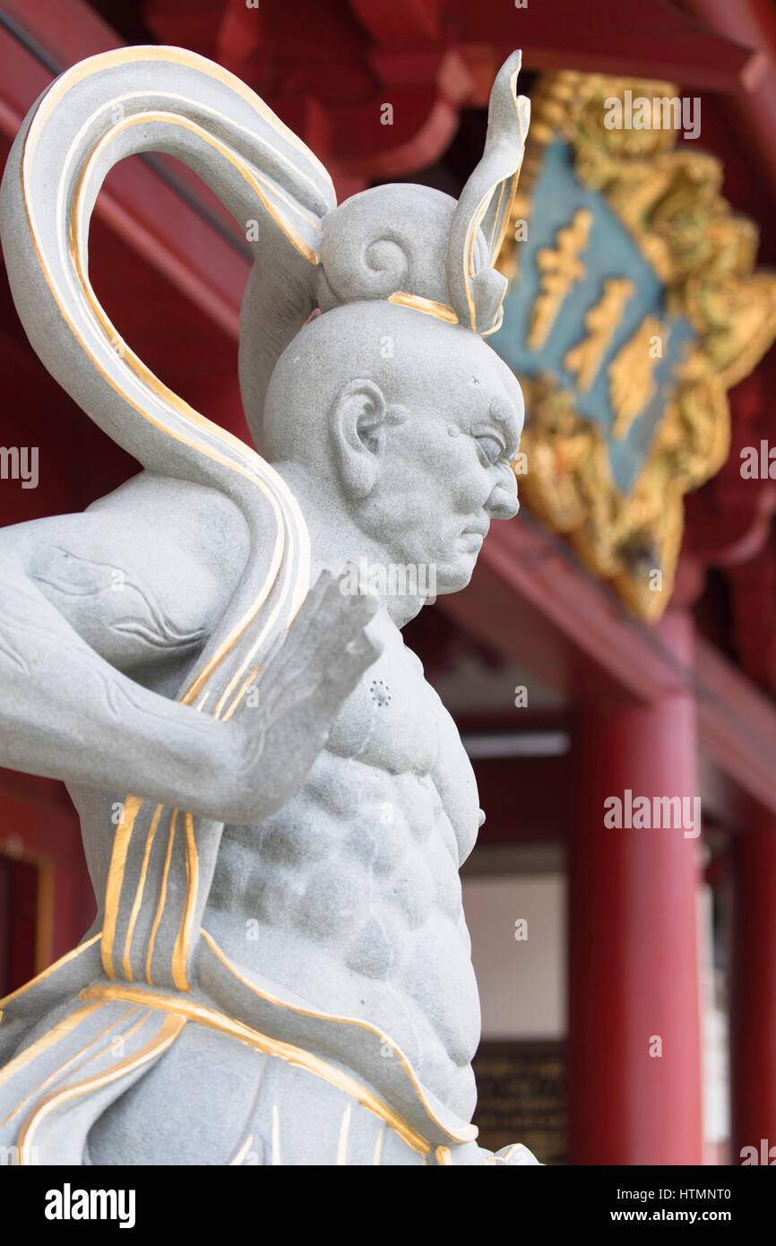 Statue at Buddha Tooth Relic Temple, Chinatown, Singapore - Stock Image