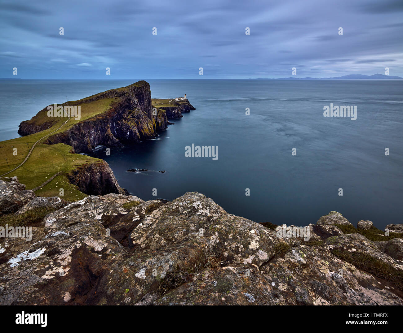 Neist Point Lighthouse, Isle of Skye, Scotland Stock Photo