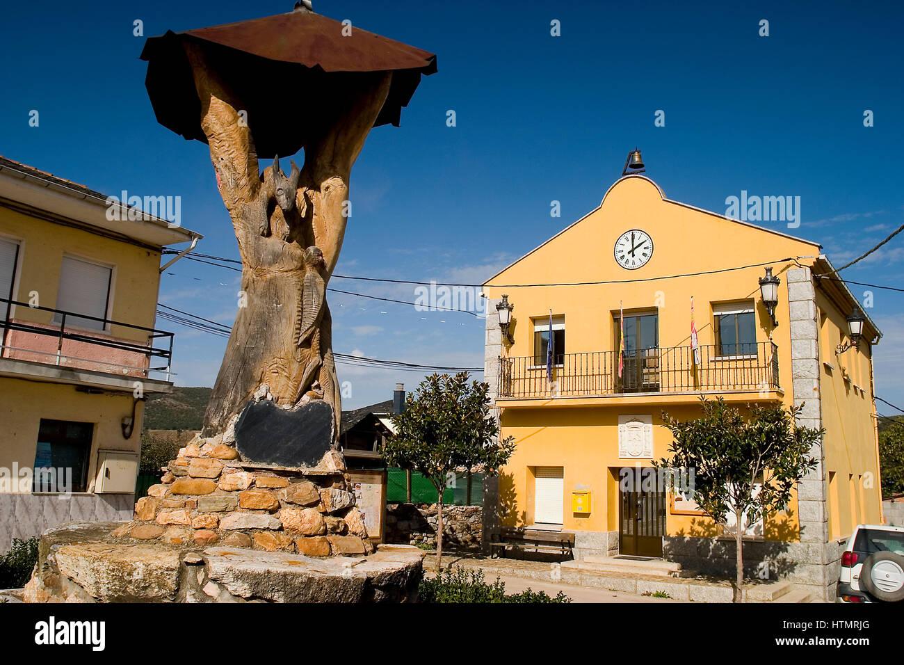 Borrenes village. El Bierzo county, Leon, Spain - Stock Image