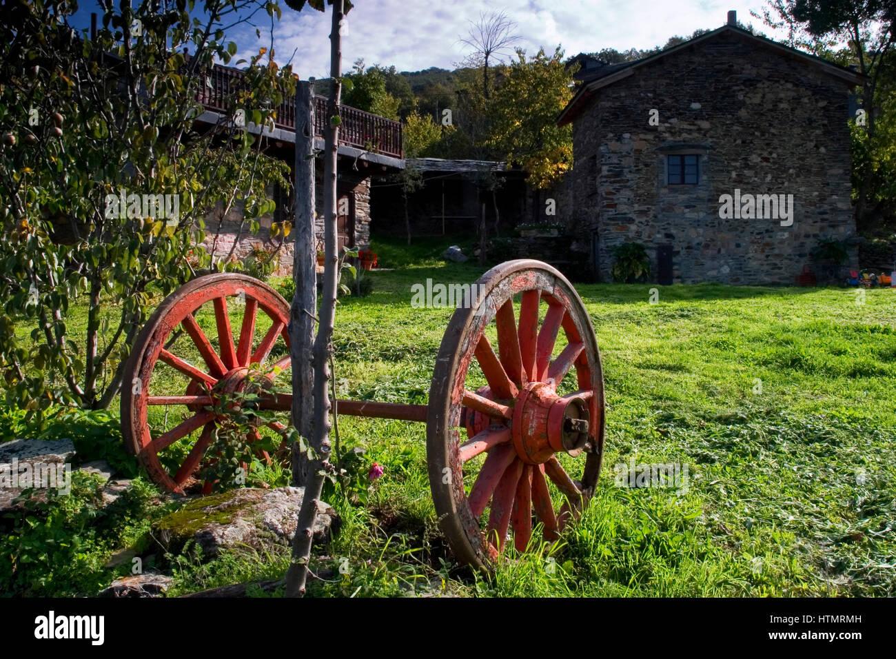 Voces village. El Bierzo, Leon. Spain, Europe - Stock Image