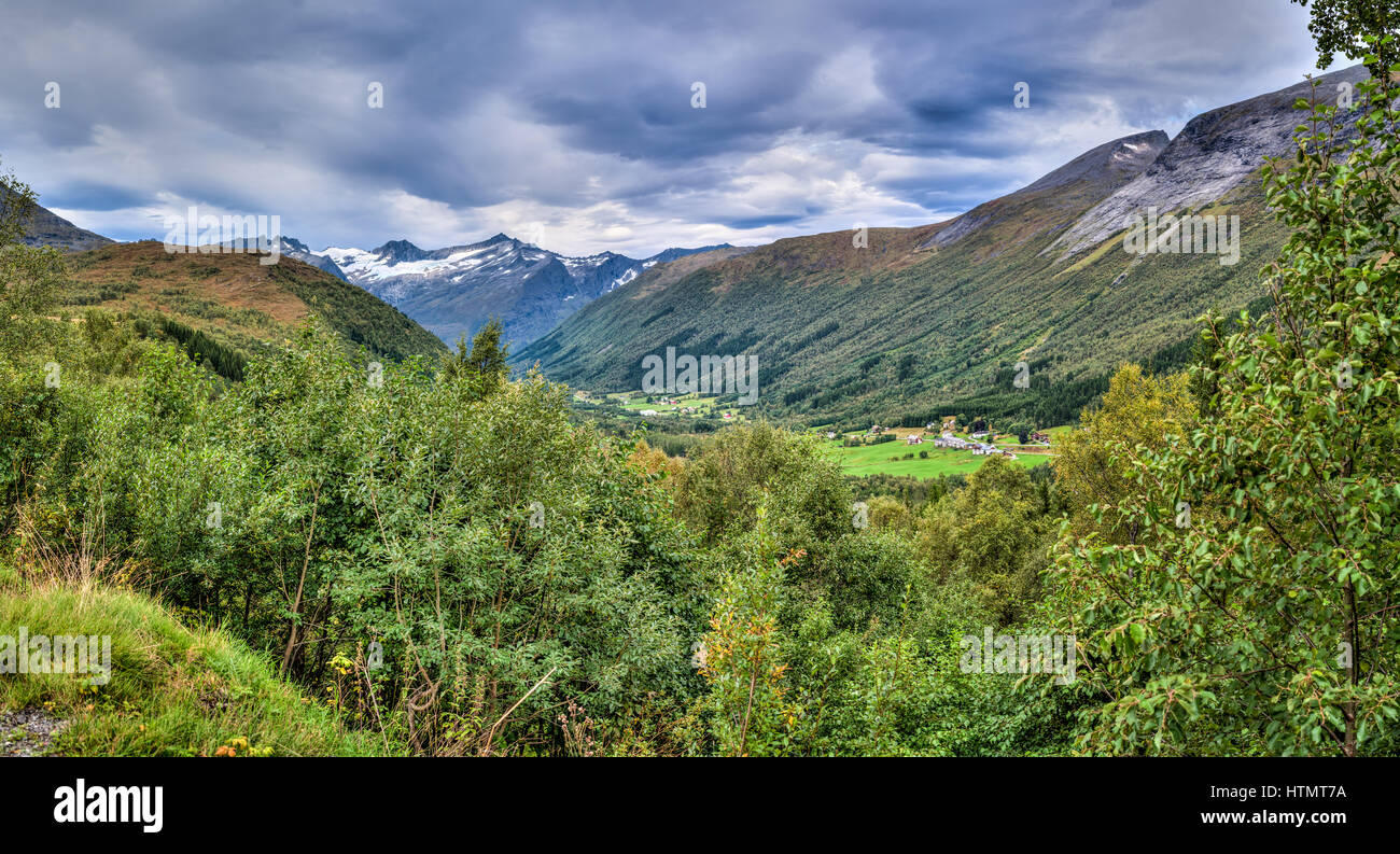 The Sunnmore Alps in Norway. - Stock Image