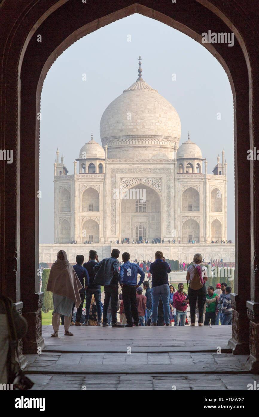 Taj Mahal, Uttar Pradesh, India - Stock Image