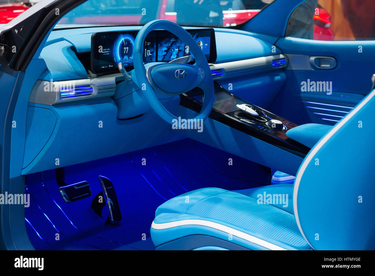 Hyundai FE Fuel Cell Concept at the 87th International Geneva Motor Show - Stock Image