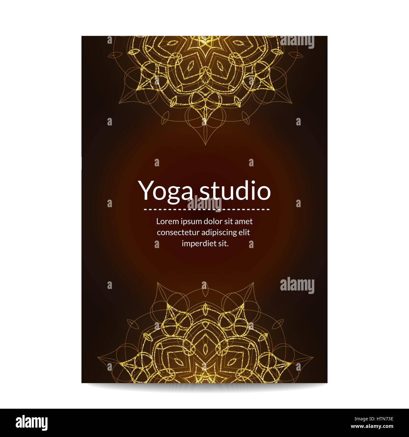 Yoga Banner With Golden Floral Mandalas Ethnic Ornament Indian Stock Vector Image Art Alamy