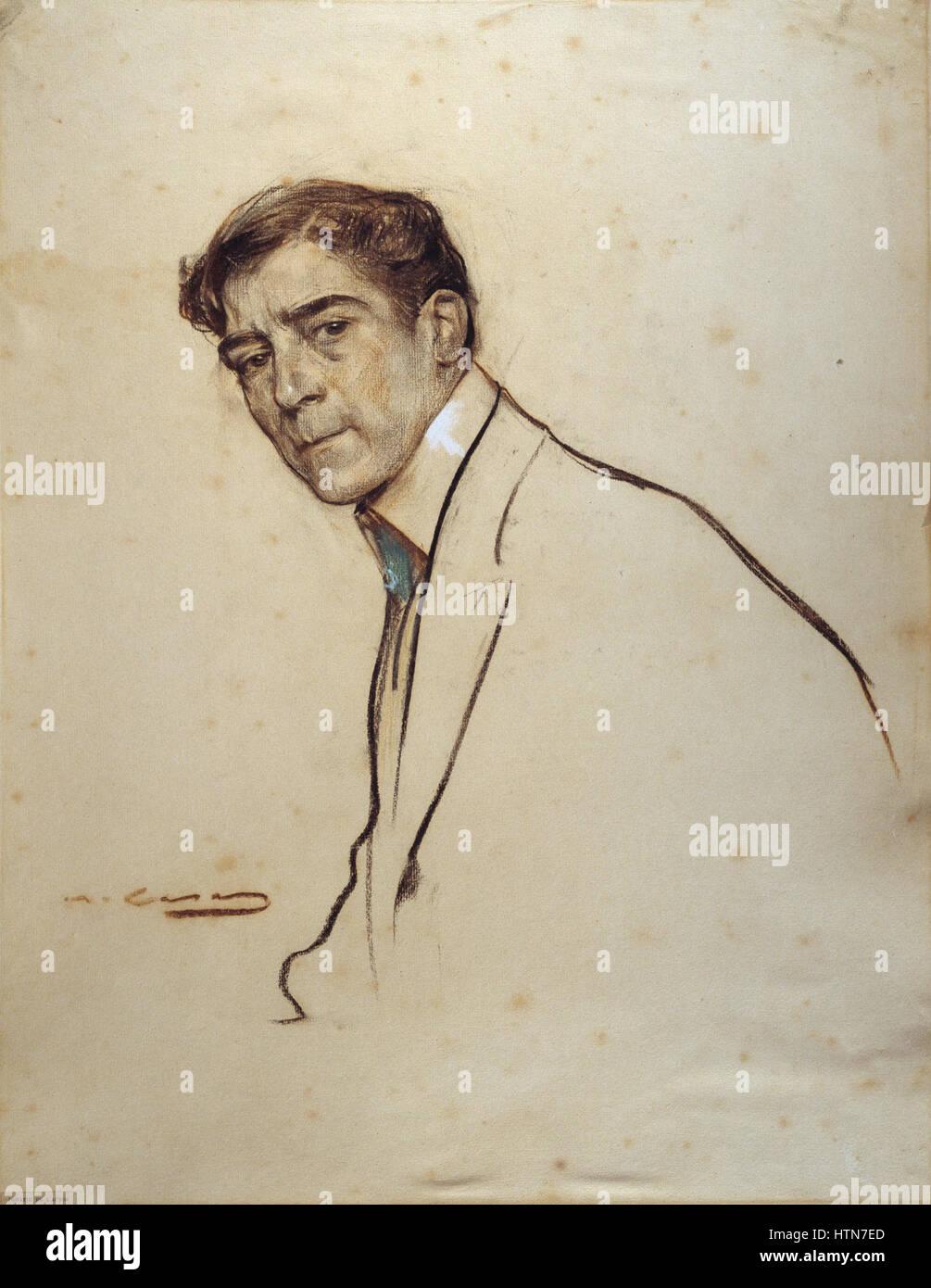 Ramon Casas - MNAC- Alexandre de Riquer- 027304-D 006462 - Stock Image