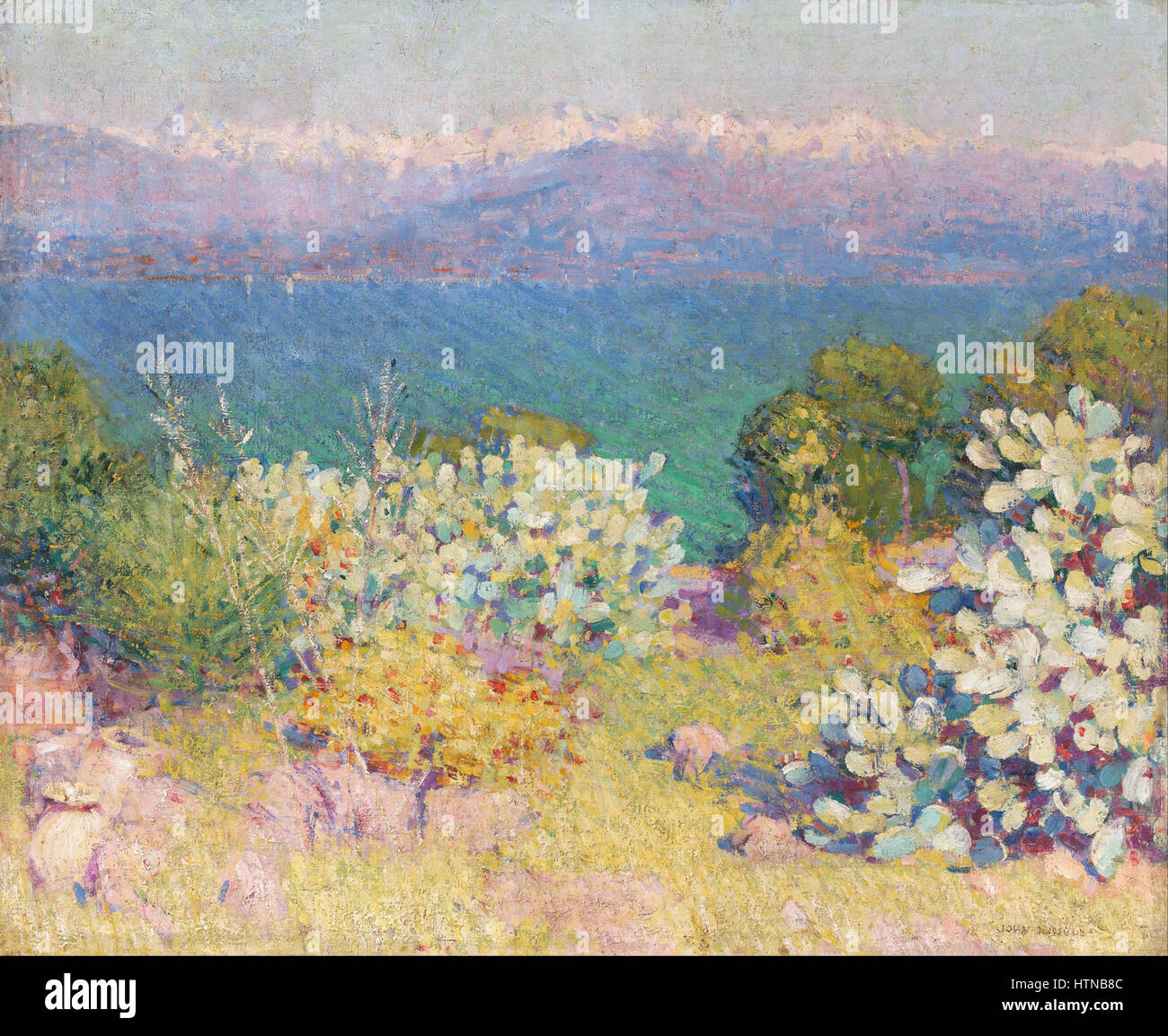 John Russell - In the morning, Alpes Maritimes from Antibes - Google Art Project - Stock Image