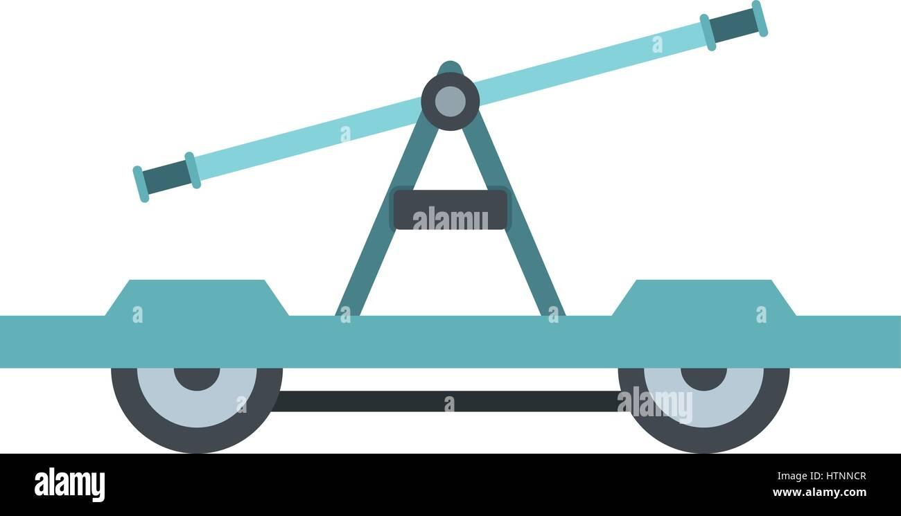 Draisine or handcar icon, flat style - Stock Image